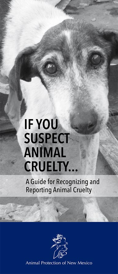 APNM Guide for Recognizing and Reporting Animal Cruelty