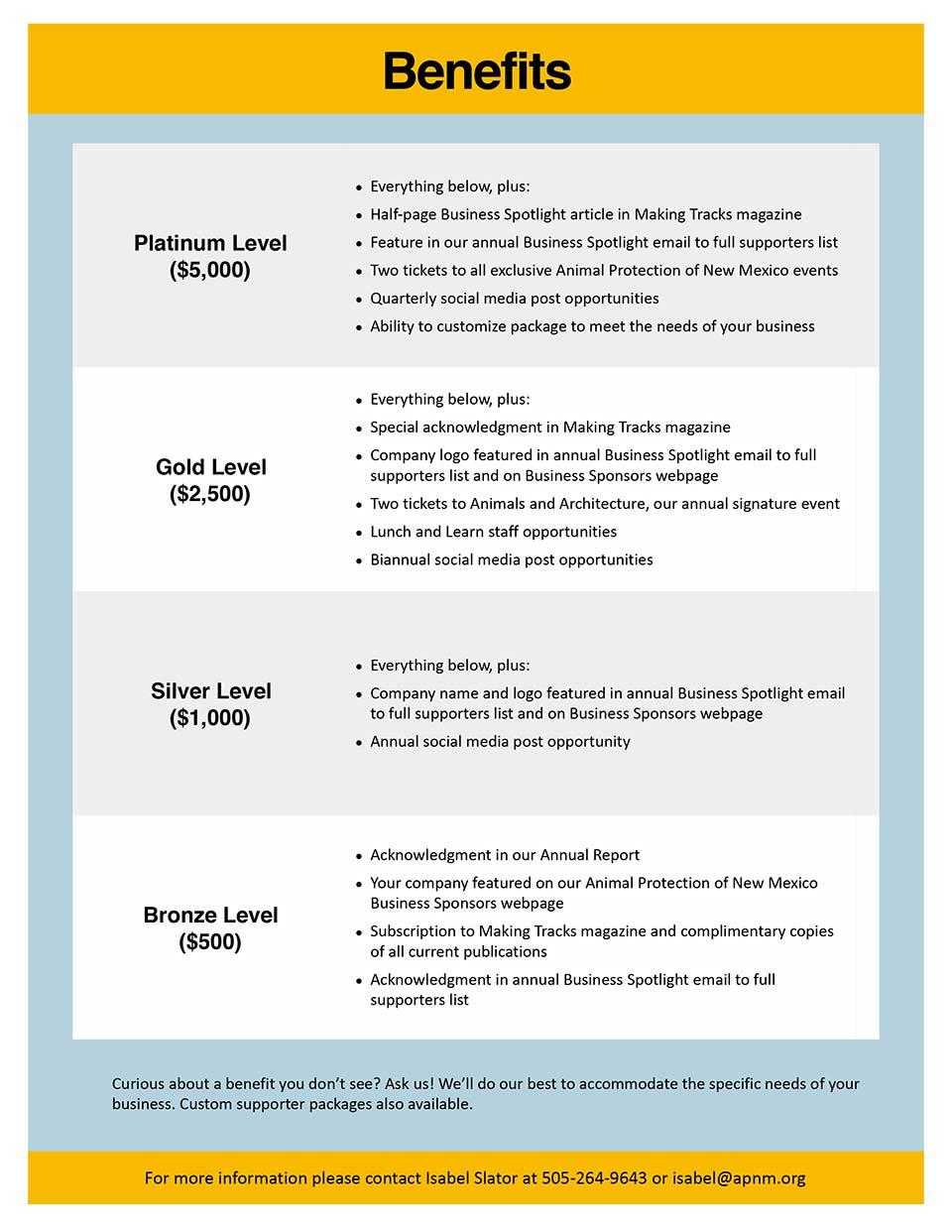 APNM Business Sponsorships